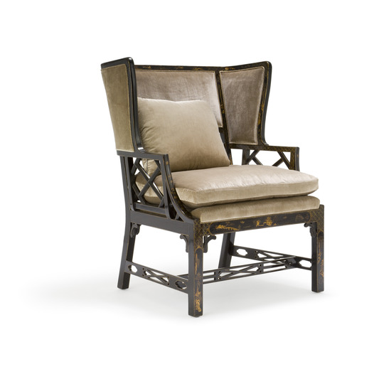 Chinese Chippendale Wing Chair (large)  sc 1 st  Gregorius|Pineo & Gregorius|Pineo - Chinese Chippendale Wing Chair (large) (5504)
