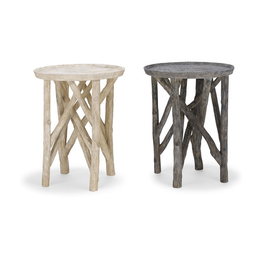GregoriusPineo Twig Branch Side Table Composite Stone