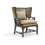Chinese Chippendale Wing Chair (large)