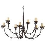 Cluny Chandelier (two tier)