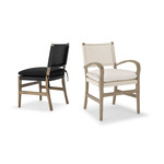 Courtens Dining Sidechair & Armchair (Danish cord)