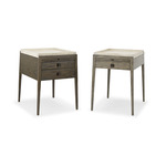 Bonnaire Side Table (two drawer & one drawer)