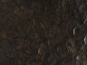 Antiqued Rusted Iron on Hammered Iron