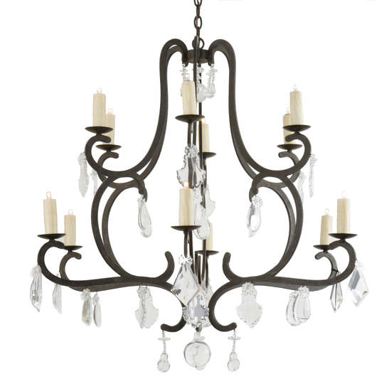 Rousseau Chandelier with Crystals